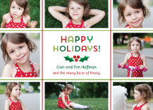 Holiday Cards - holly jolly