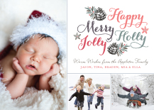 Holiday Cards - happy merry holly jolly