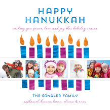 Hanukkah Cards - flickering flames