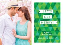 Holiday Cards - geometric and jolly