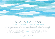 Wedding Invitations - watercolor seas