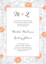 Wedding Invitations - aster garden