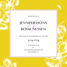 Wedding Invitations - vintage magnolia