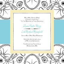 Wedding Invitations - she sells sea shells