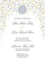 Wedding Invitations - confetti