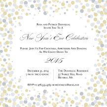 Holiday Party Invitations - confetti new year
