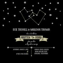 Wedding Invitations - written in the stars