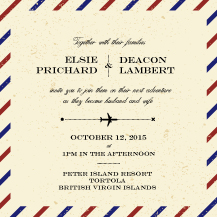 Wedding Invitations - bon voyage