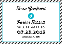 Save the Date Card - coastal
