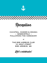 Reception Card - coastal