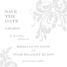 Save the Date Card - graceful