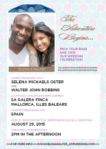 Wedding Invitations with photo - passport to adventure