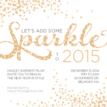 Holiday Party Invitations - sparkle