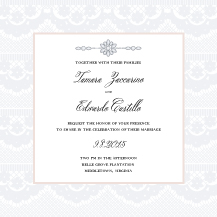 Wedding Invitations - soft lace