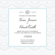 Wedding Invitations - soft lace
