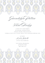 Wedding Invitations - jacquard