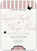 Wedding Invitations - boho butterfly