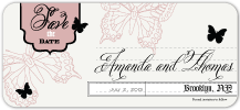 Save the Date Card - boho butterfly