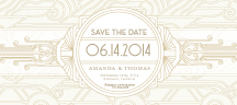 Save the Date Card - deco grand