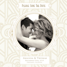 Save the Date Card with photo - deco grand