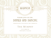 Reception Card - deco grand