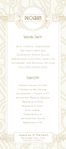 Wedding Program - deco grand