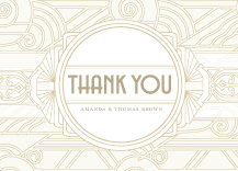 Wedding Thank You Card - deco grand