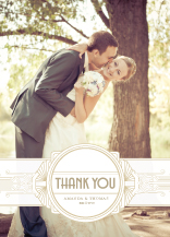 Wedding Thank You Card with photo - deco grand