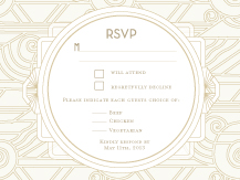 Response Card with menu options - deco grand