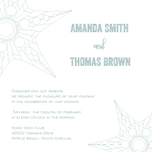 Wedding Invitations - nautical star