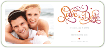 Save the Date Card with photo - in harmony