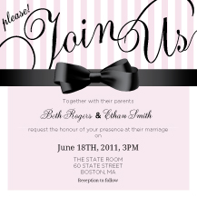 Wedding Invitations - candy stripes