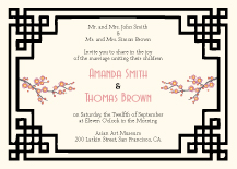 Wedding Invitations - shanghai swing