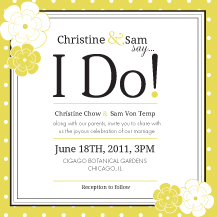 Wedding Invitations - yes i do!