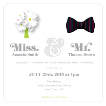 Wedding Invitations - mr and miss