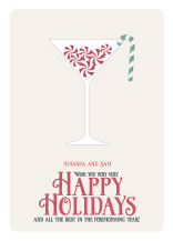 Holiday Cards - candy cocktails