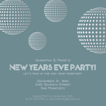 Holiday Party Invitations - new years ball