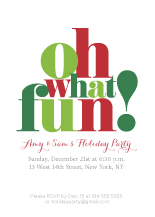 Holiday Party Invitations - oh what fun!