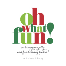 Holiday Cards - oh what fun!