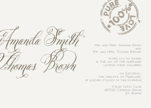 Wedding Invitations - par avion