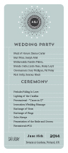 Wedding Program - dazzle
