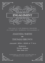 Engagement Party Invitation - modern victorian