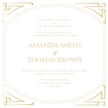 Wedding Invitations - modern victorian