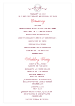 Wedding Program - simple but bold