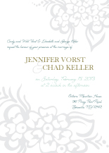 Wedding Invitations - tropical floral