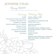 Wedding Program - tropical floral