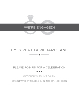 Engagement Party Invitation - rings
