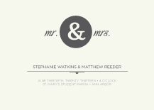 Wedding Invitations - mr & mrs
