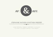 Wedding Invitations - mr & mrs
