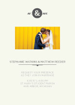 Wedding Invitations with photo - mr & mrs